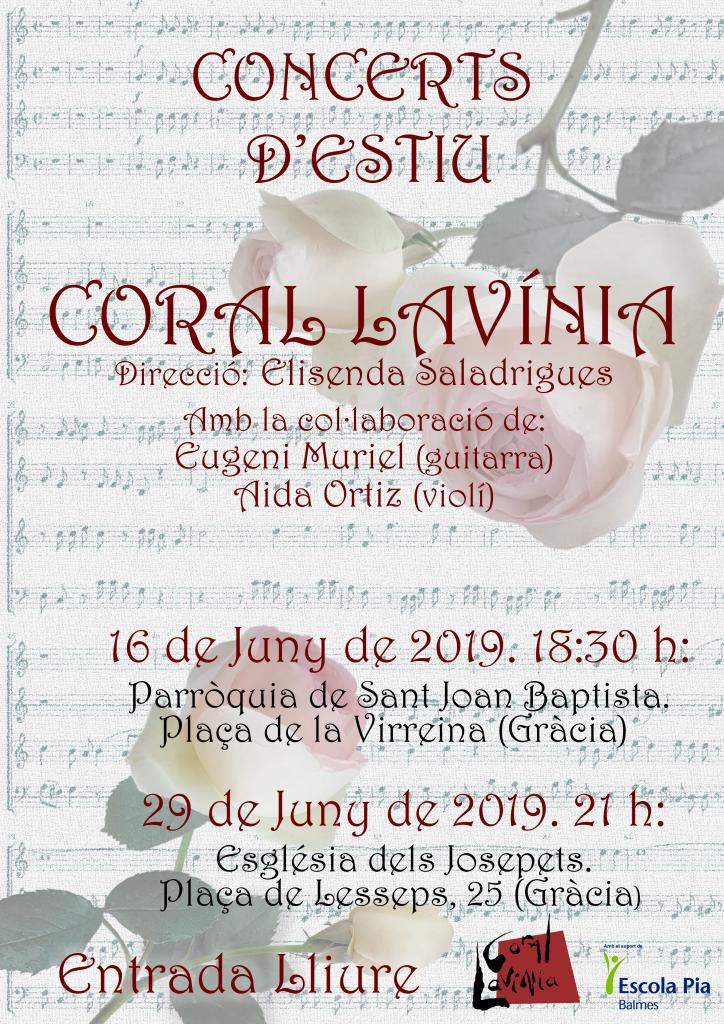 Cartell concerts Estiu 2019